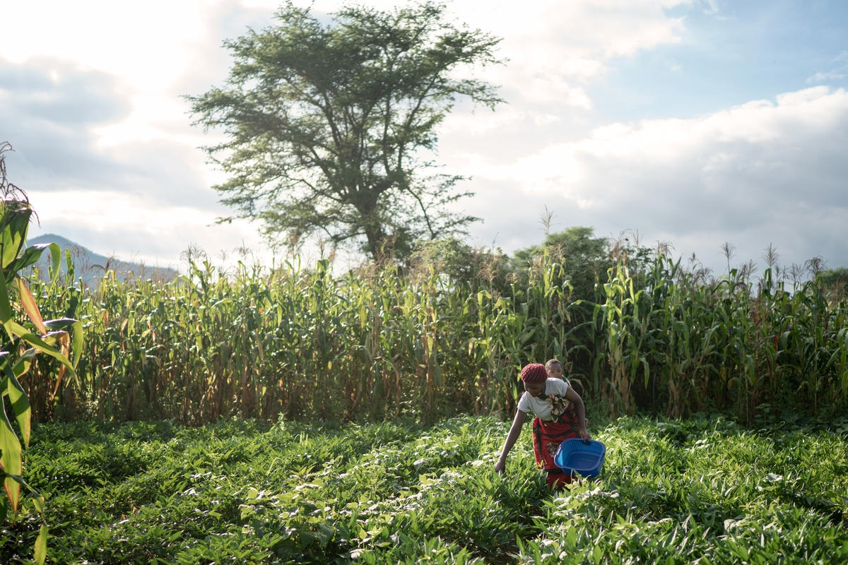 photo d'une femme agricultrice