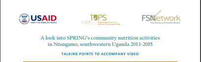 Download Resource: A Look into SPRING's community nutrition activities in Ntungamo, southwestern Uganda 2013-2015