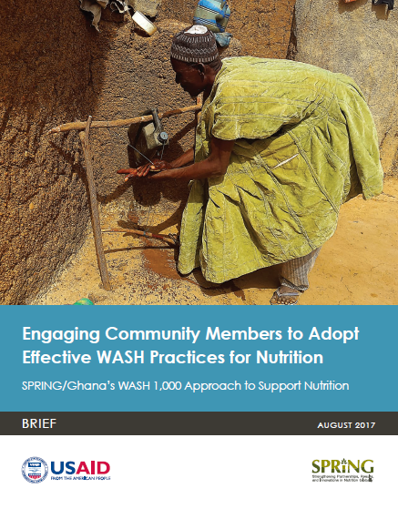 Download Resource: Engaging Community Members to Adopt Effective WASH Practices for Nutrition