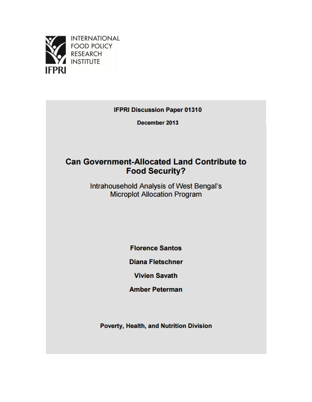 Download Resource: Can Government-Allocated Land Contribute to Food Security?