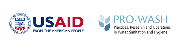 USAID and PRO-WASH logos